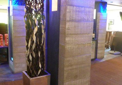 Poteaux décoratifs en vrai béton