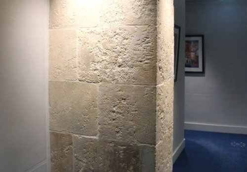 Restauration d'une pierre de Paris
